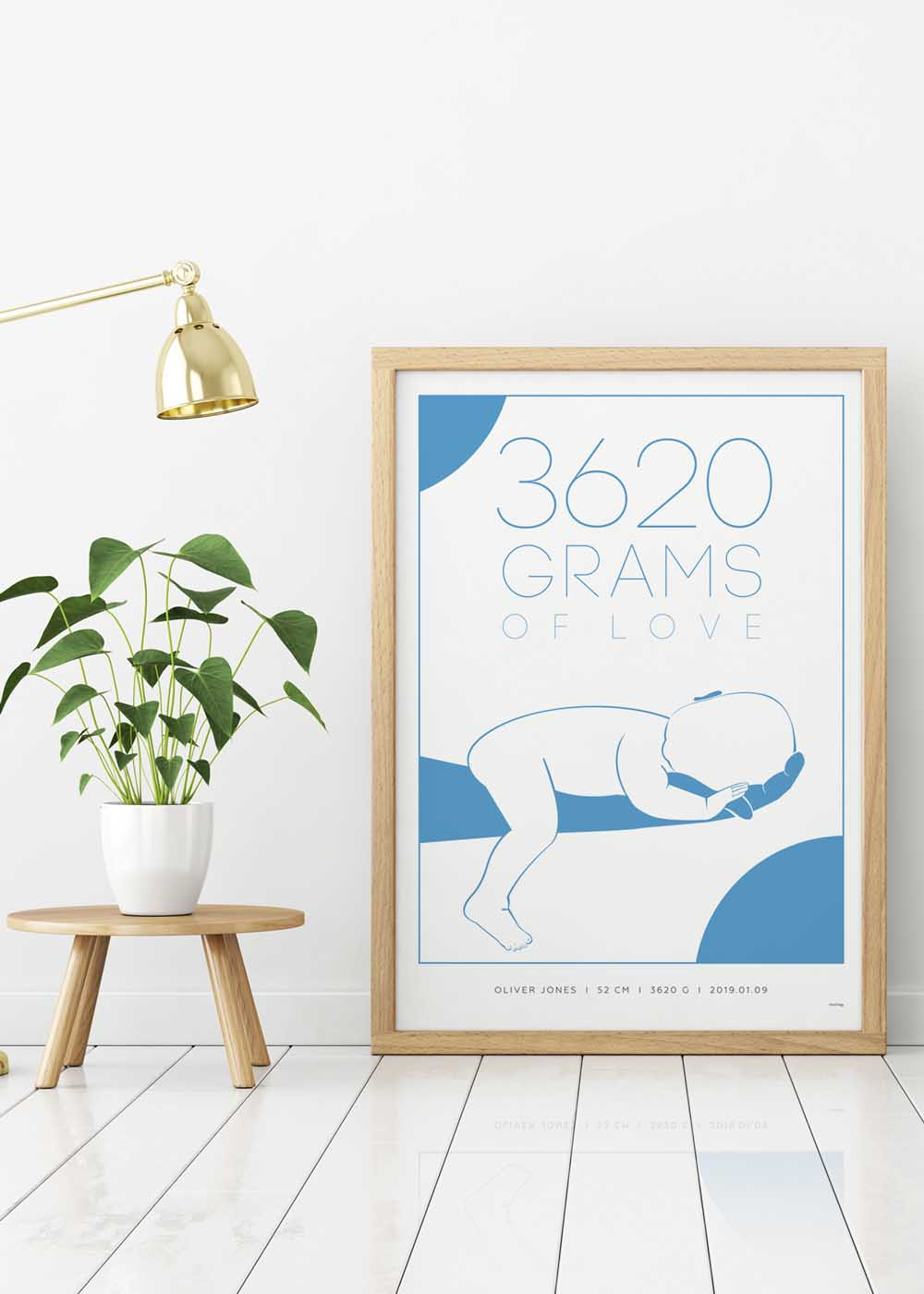 Birth poster, The weight of love, clean