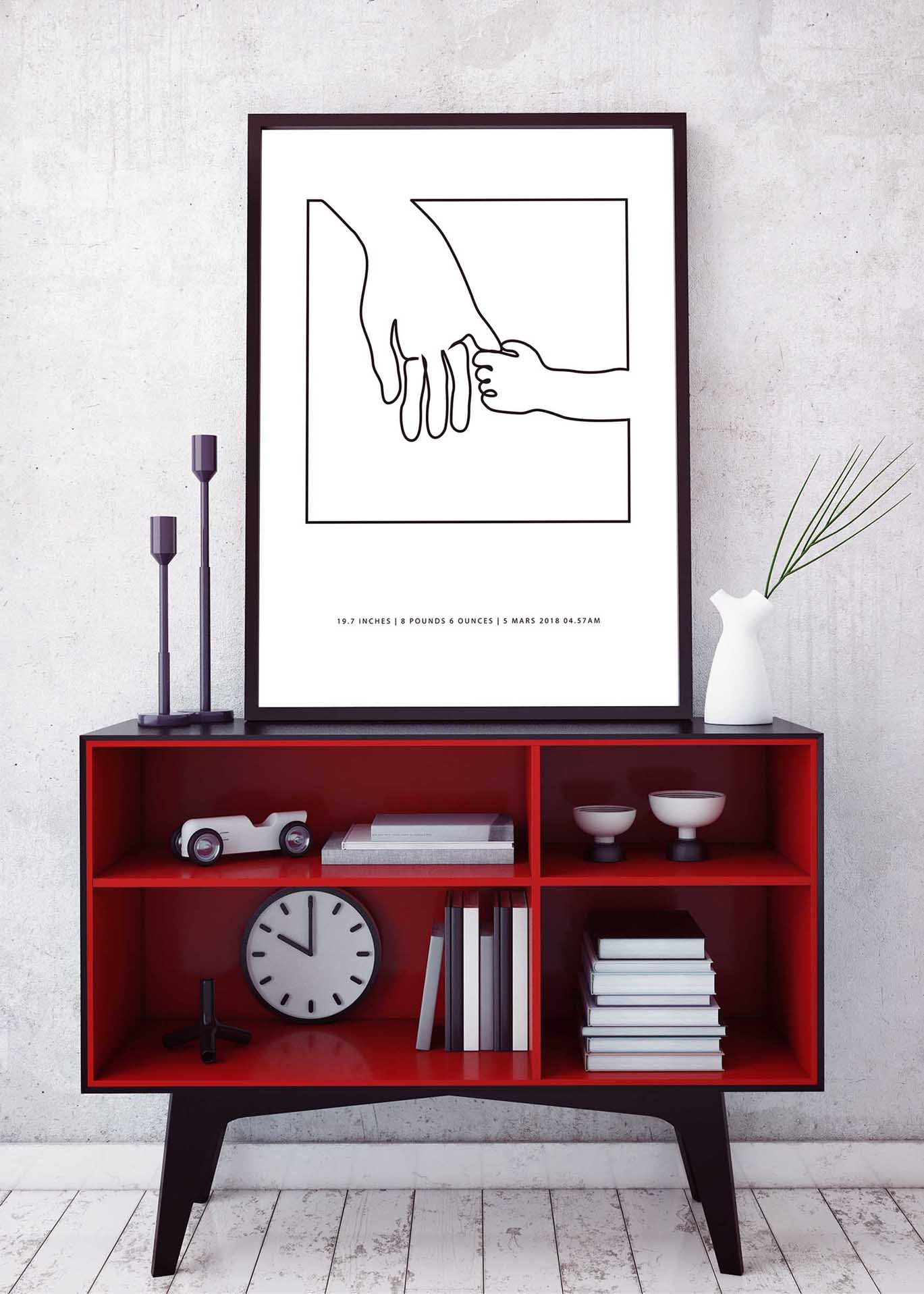 Birth poster, hold hands